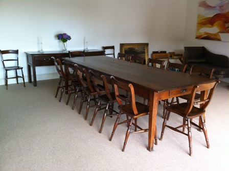 Recently sold oak antique table, chairs and dresser
