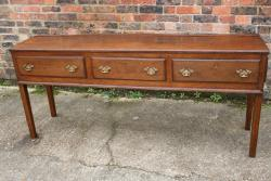 3 Drawer English Oak Dresser Base Circa 1760
