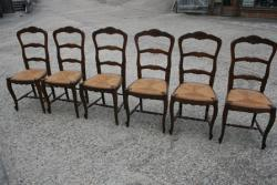 6 French ladderback chairs