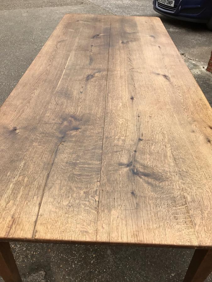 8ft Farm Table 8ft wide antique oak farmhouse table, Antique oak farmhouse table ...
