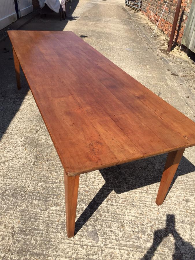 9ft Cherry Farmhouse Table Antique Cherry Table Dining
