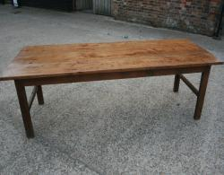 A beautiful Ash H/stretcher farmhouse table 8 x 3