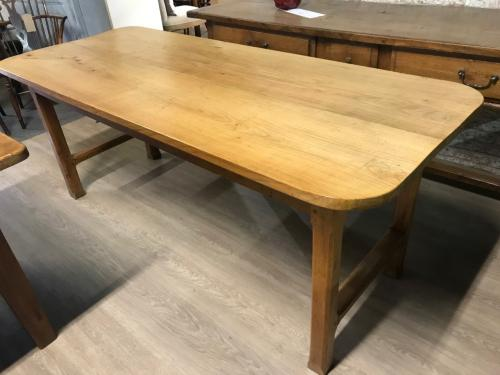 Farmhouse Pale Applewood Dining Table
