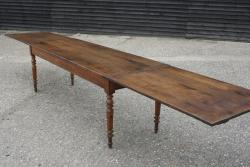 Antique chestnut/cherry double draw leaf table