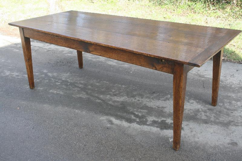 High Quality Antique French Oak Farmhouse Table