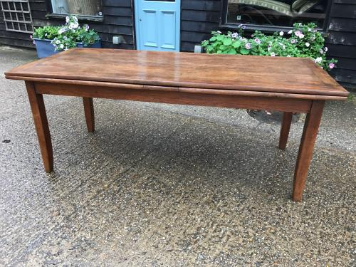Antique oak extending French farmhouse table C1840