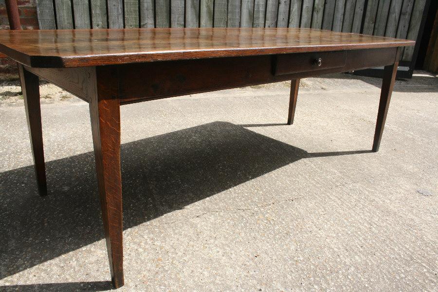 Antique Oak Farmhouse Table Dining Tables