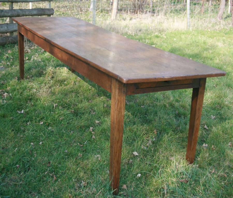Antique Oak French Farmhouse table Circa 1840 Dining Tables 3m