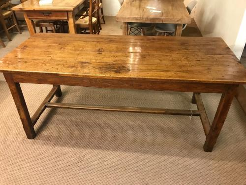Antique oak h stretcher dining table