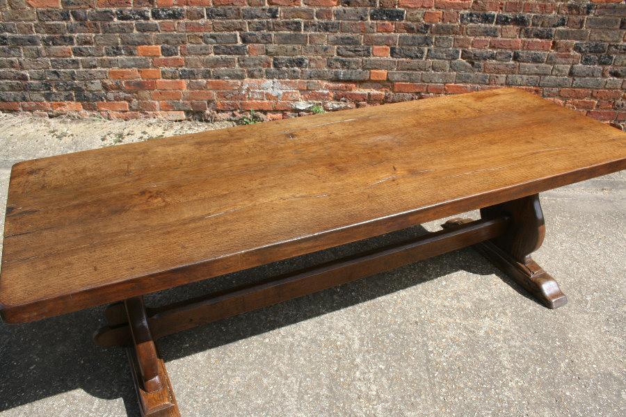 Antique Oak Trestle Table