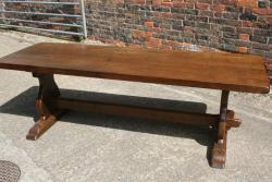 Antique oak Trestle table