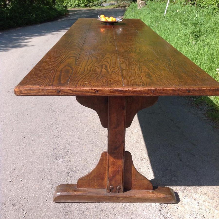 Antique Ash Trestle Table