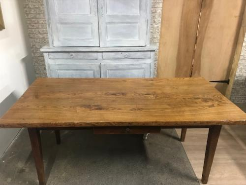 Ash Antique Table With One Drawer