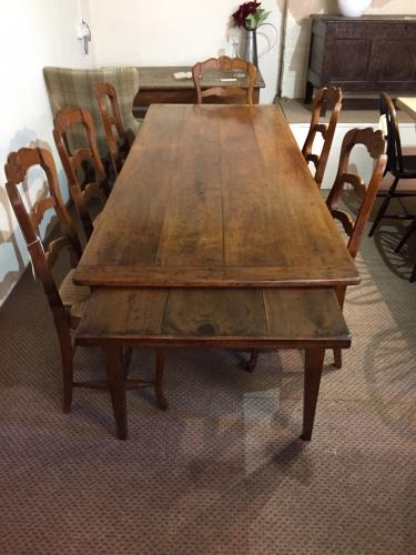 Beautiful rare wild cherry farmhouse table french for Table th html