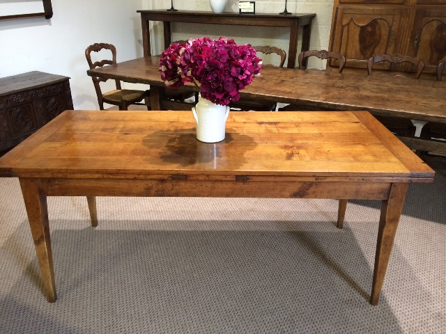 Antique Cherry double draw leaf table