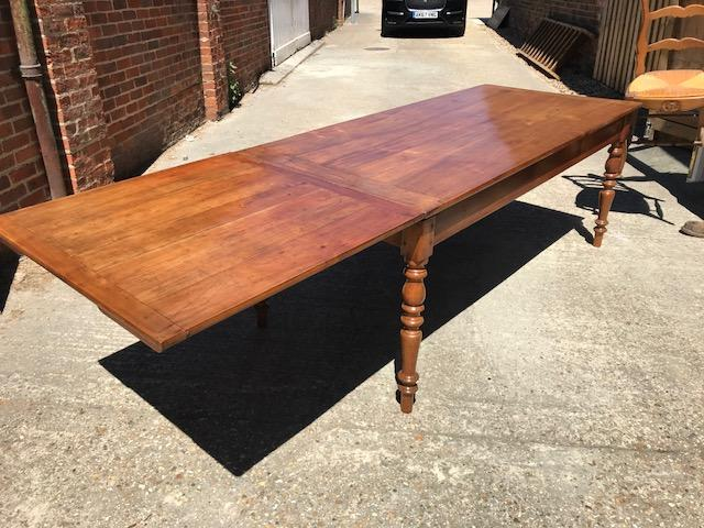 Cherry Antique single drawer leaf table
