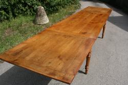 French double drawerleaf cherry table
