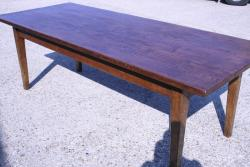 Wide Elm Farmhouse Table - Circa 1840