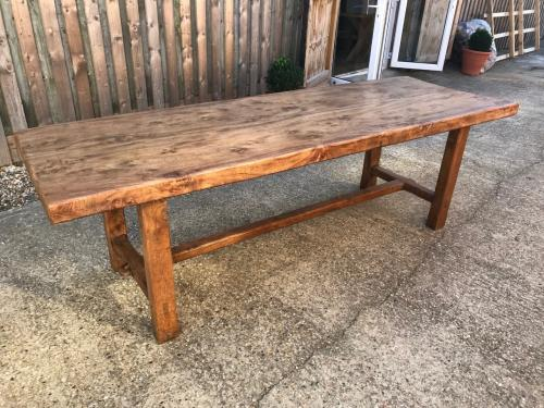 Elm 19th Century Normandy Two Plank Table