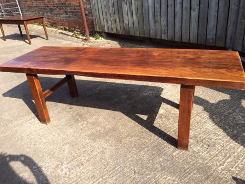 French elm antique farmhouse table