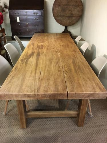 French Normandy style farmhouse table