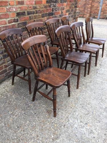 Harlequin set of Lathback chairs