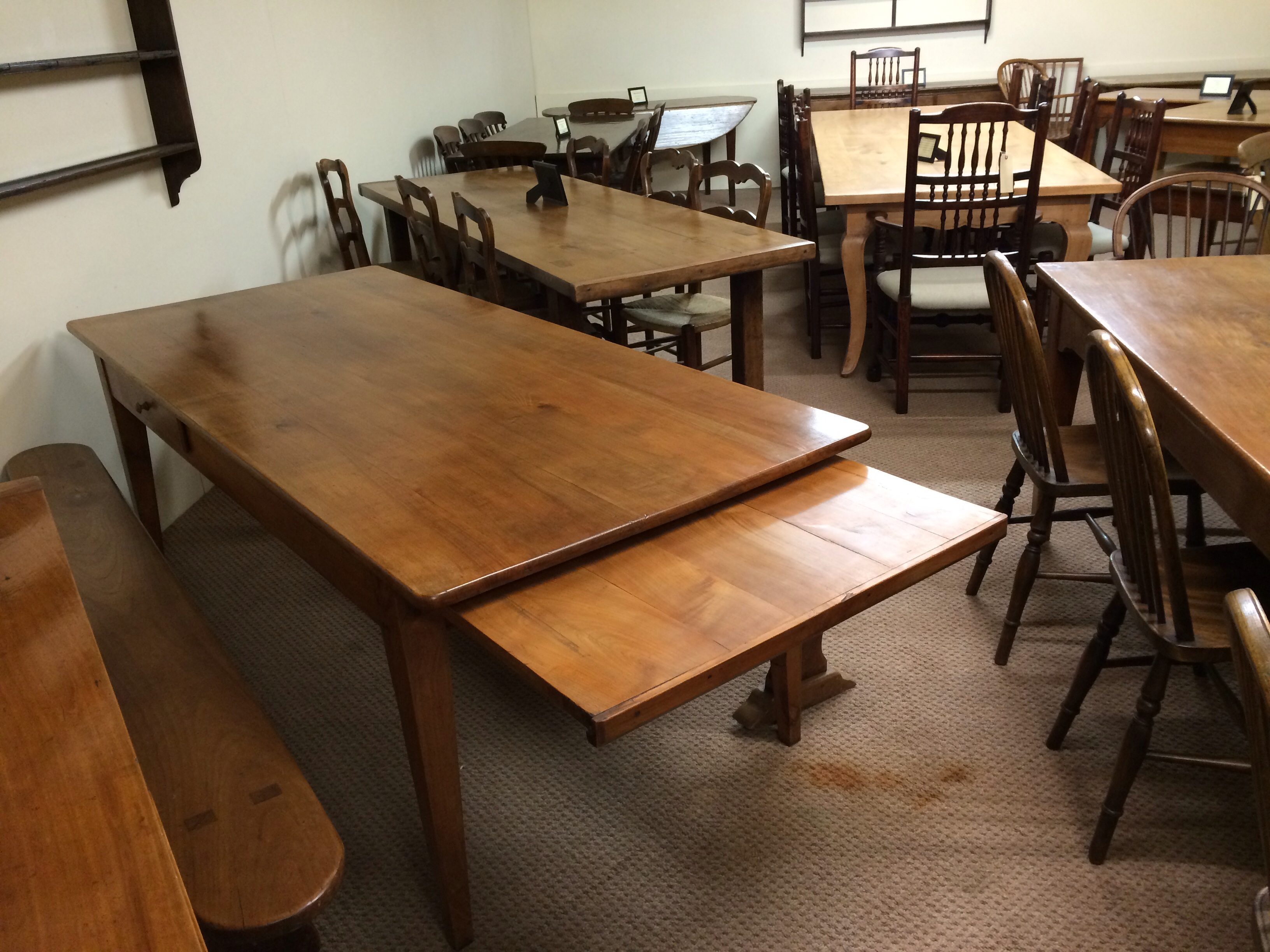 Antique French Cherry farmhouse table