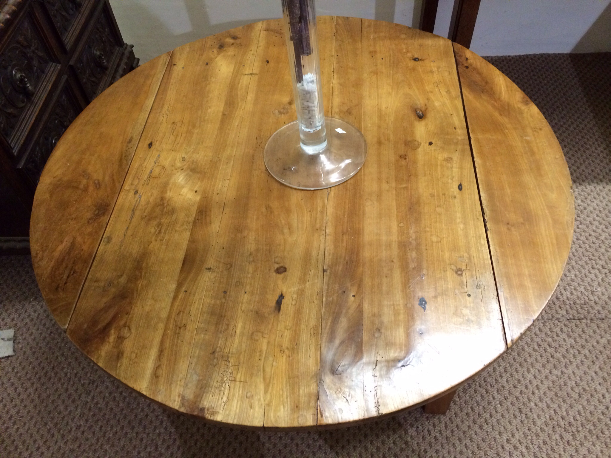 Antique Cherry Round Coffee Table
