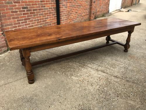Large Oak Vintage Refectory Dining Table
