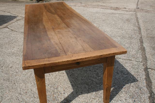large walnut antique farmhouse table