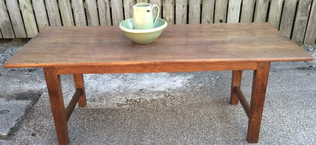 Antique oak and cherry table