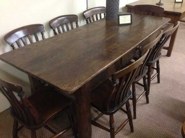 A lovely dark rustic oak antique table