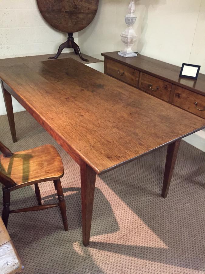 Oak antique farmhouse table Antique oak table French oak farmhouse table