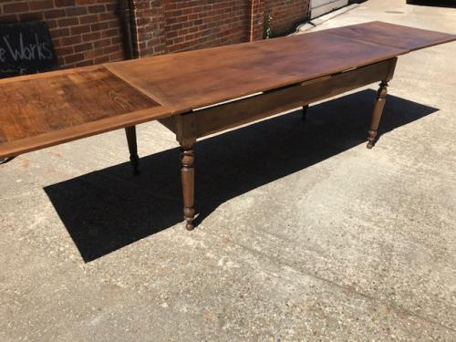 Oak Extending Farmhouse Table
