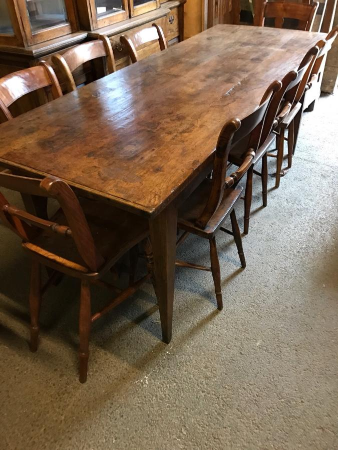 Oak rustic farmhouse table Antique tables Dining tables Rustic kitchen ta