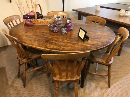 Oval Country Drop Leaf Table