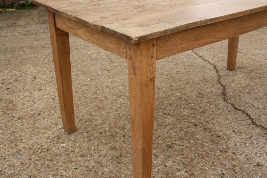 Small faded elm farmhouse table Tables Dining