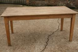Small faded elm farmhouse table