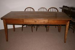 Pale 19th Century Elm Farmhouse Table