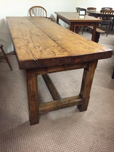 Rustic refectory elm antique farm house table