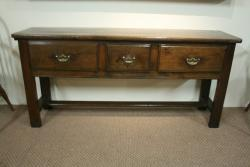 A lovely 19th Century 3 Drawer Chestnut Server