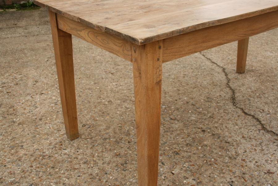 Small faded elm farmhouse table Tables 1m to 2m