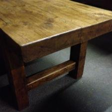 Thick top Antique Elm Normandy Table