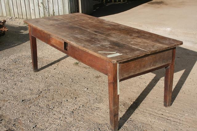 Wide Cherry tapered leg table