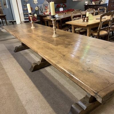 A Fine Example of an Antique Trestle Table