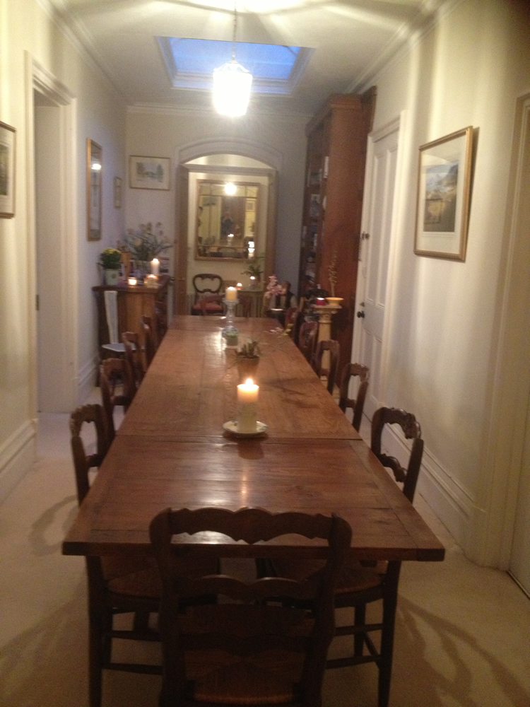 Antique table and chairs delivery to beautiful ancestral home in Hampshire