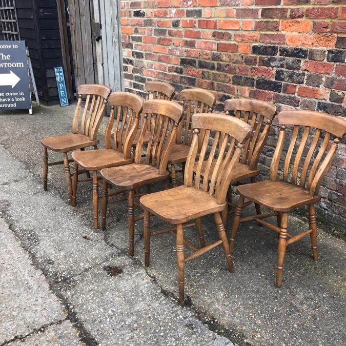 Buy Antique lath back chairs