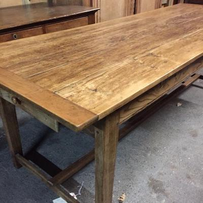 Find a collection of antique refectory tables