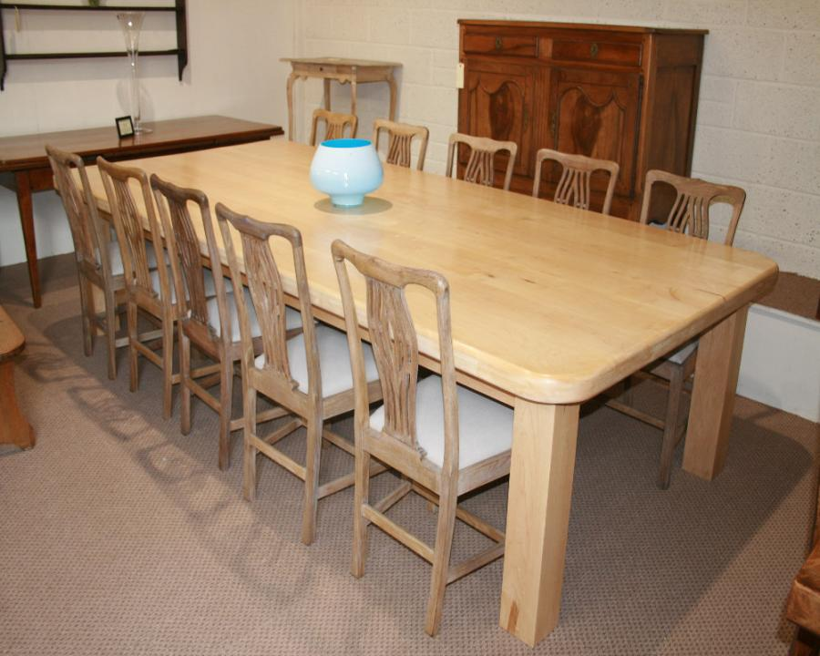 Finding  A Large Maple Dining Table