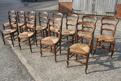 French Ladderback chairs